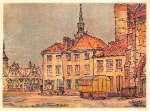 Belgium Furnes Marche aux Pommes Appelmarkt Market Postcard