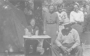 F76/ Billings Montana RPPC Postcard 1964 Tent Camping Ness Family