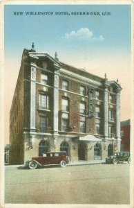 New Wellington Hotel, Quebec, Canada 1940  Postcard Parked Roadsters