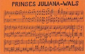 Royalty, Prinses Juliana-Wals, Song, Music sheet