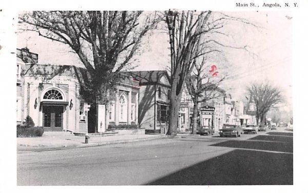 Main Street Angola, New York Postcard