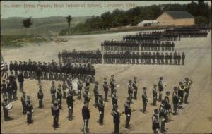 Lancaster OH Boys School Dress Parade c1910 Postcard