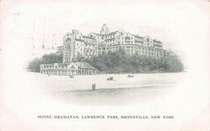 Hotel Gramatan, Lawrence Park, Bronxville, N.Y., Early Postcard, Used in 1912