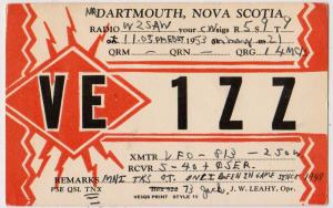 VE1ZZ, Nova Scotia, 1953
