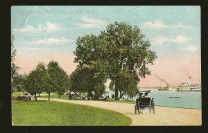 Postmarked 1908 Detroit Mich Driveway Belle Isle Detroit Color Postcard