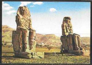 1969 Egypt, Luxor, Memnon's Statues, mailed to Czechoslovakia
