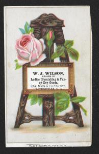 VICTORIAN TRADE CARD Wilson Ladies Furnishings