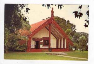 Waitangi. Maori Meeting House, Bay of Islands, New Zealand, 60-70s