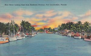 New River Looking East From Andrews Avnue Fort Lauderale Florida 1939