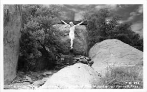 Crucifix Shrine St Joseph Yarnell 1950s Yavapai Arizona RPPC Photo Postcard 3461