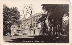 D29/ Hutchinson Minnesota Mn Real Photo RPPC Postcard 1916 High School