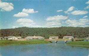 Ripley West Virginia 1960s Postcard Cottages at Cedar lakes State FFA FHA Camp