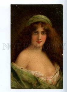 184630 Lady in Green by Angelo ASTI vintage color Granberg PC
