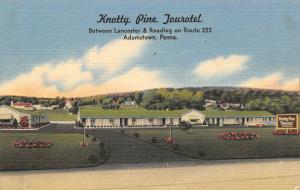 Adamstown Pennsylvania~Knotty Pine Tourotel~Roadside Route 222 Motel~1940s Linen