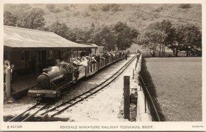 Eskdale Miniature Railway Terminus Cumbria England Sankeys RPPC Postcard F15