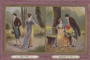 The Tiff Making It Up Lovers Quarrel Antique Postcard