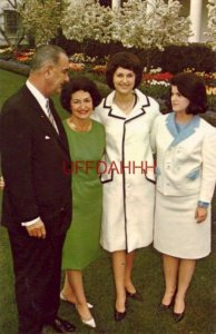 THE FIRST FAMILY, 36th PRESIDENT LYNDON BAINES JOHNSON, CLAUDIA, LYNDA and LUCY