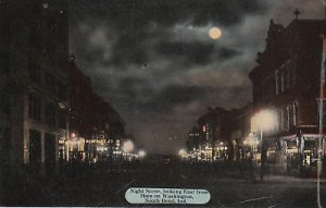 E7279 IN, South Bend Washington Street Postcard