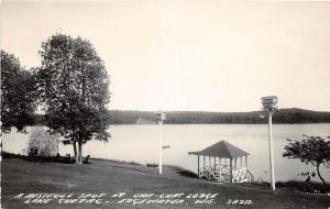 B72/ Edgewater Wisconsin Wi Postcard Photo RPPC 1960 Chit-Chat Lodge Lake Chetac