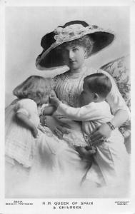 H.M. Queen of Spain & Children, royalty