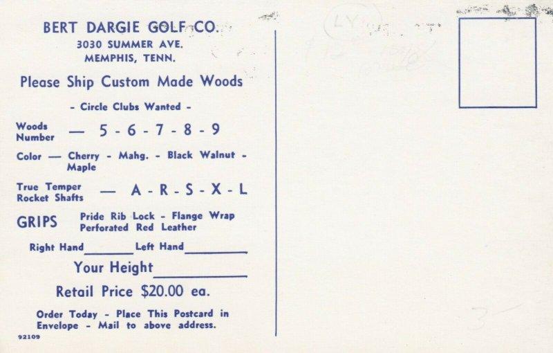 MEMPHIS, Tennessee, 1950-60s; Bert Dargie Golf Company