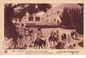 Morocco Rabat Sultan is going out from his palace 1920s-30s