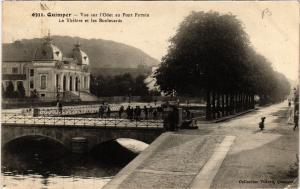 CPA QUIMPER - Vue sur l'Odet au Pont Firmin - Le Théatre et les (457410)