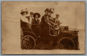 Postcard RPPC 1910s Glen Haven United States Studio Photo People In Car July 4th