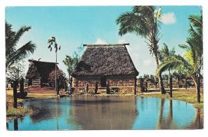 Hawaii Oahu Chief's House Filian Village Polynesian Cultural Center Vtg Postcard