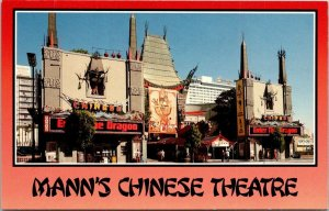 Vintage Postcard Mann's Chinese Theatre Hollywood California Unposted  910