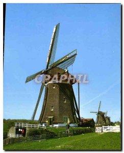 Postcard Modern Leidschendam Holland Windmill