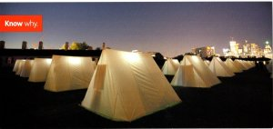 Globe and Mail Newspaper 2012  Subscription Advertising Postcard, Field of Tents