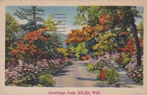 Wisconsin Greetings From Hiles 1944
