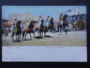 Morocco TANGER Fete de la Poudre c1905 UB Postcard by Valentin Hell 30