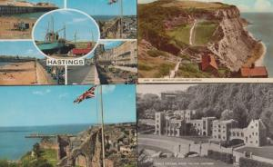 Hastings Flag Castle Model Village Kings College 4x 1970s Postcard s