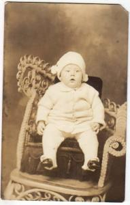 RPPC, Baby in a Fancy Chair