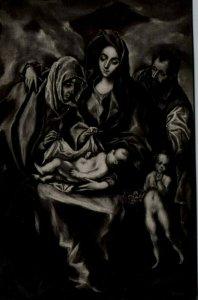 Toledo Spain Hospital De Tavera Holy Family El Greco Vintage Postcard