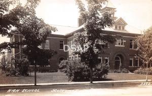 Michigan Mi Real Photo RPPC Postcard c1930s SCOTTVILLE High School Building