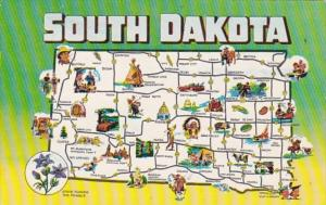 Map Of South Dakota 1960