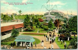 1910s WILLOW GROVE PARK Penn. Postcard Air Ships and Mountain Scenic Railway