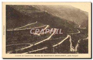 Postcard Old Lace Castillon road near Sospel Menton Reel
