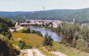 Birdseye View, Village of St Rene Goupil, Matane River, Matane, Quebec, Canad...