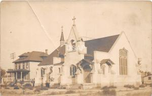 Montana Mt Real Photo RPPC Postcard c1910 BILLINGS Episcopal Church Building