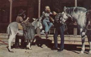 AMARILLO , Texas , 1950-60s ; Donkey & Horse