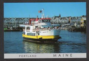 ME Maquoit II Ferry Boat Casco Bay Lines PORTLAND MAINE
