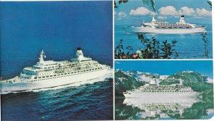 Princess Cruise Lines - Luxury Cruise Ships.1977. Large card - 5 3/4 X 9