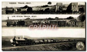 Postcard Old Train Goods Train 1837 Live stock Shap Summit 1904