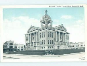 1940's COURTHOUSE SCENE Boonville - Near Evansville Indiana IN AF0264