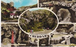 Post Card Somerset CHEDDAR 5 views