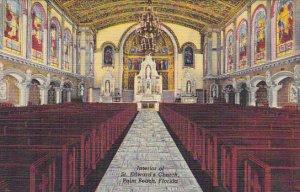 Interior Of St Edward's Church Palm Beach Florida Curteich